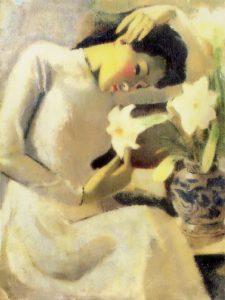 Bức Thiếu nữ bên hoa huệ