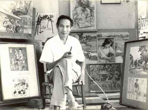 Chân dung họa sĩ Trần Văn Cẩn một trong những danh họa nổi tiếng nhất Việt Nam trước giải phóng