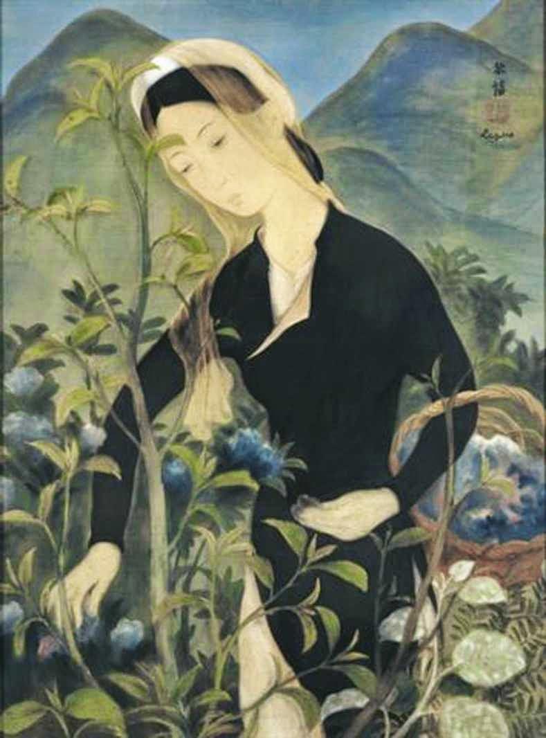 Tác phẩm Thiếu phụ trong vườn của họa sĩ Lê Phổ được đánh giá rất cao về màu sắc và bố cục chi tiết